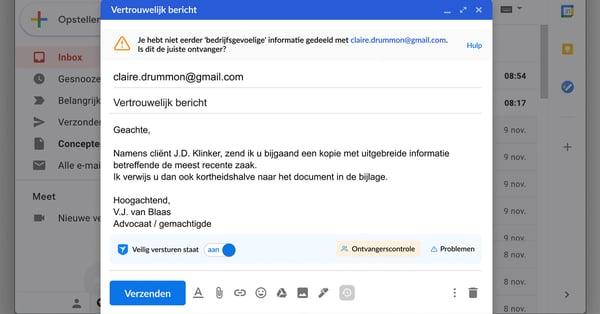 Zivver voor Gmail