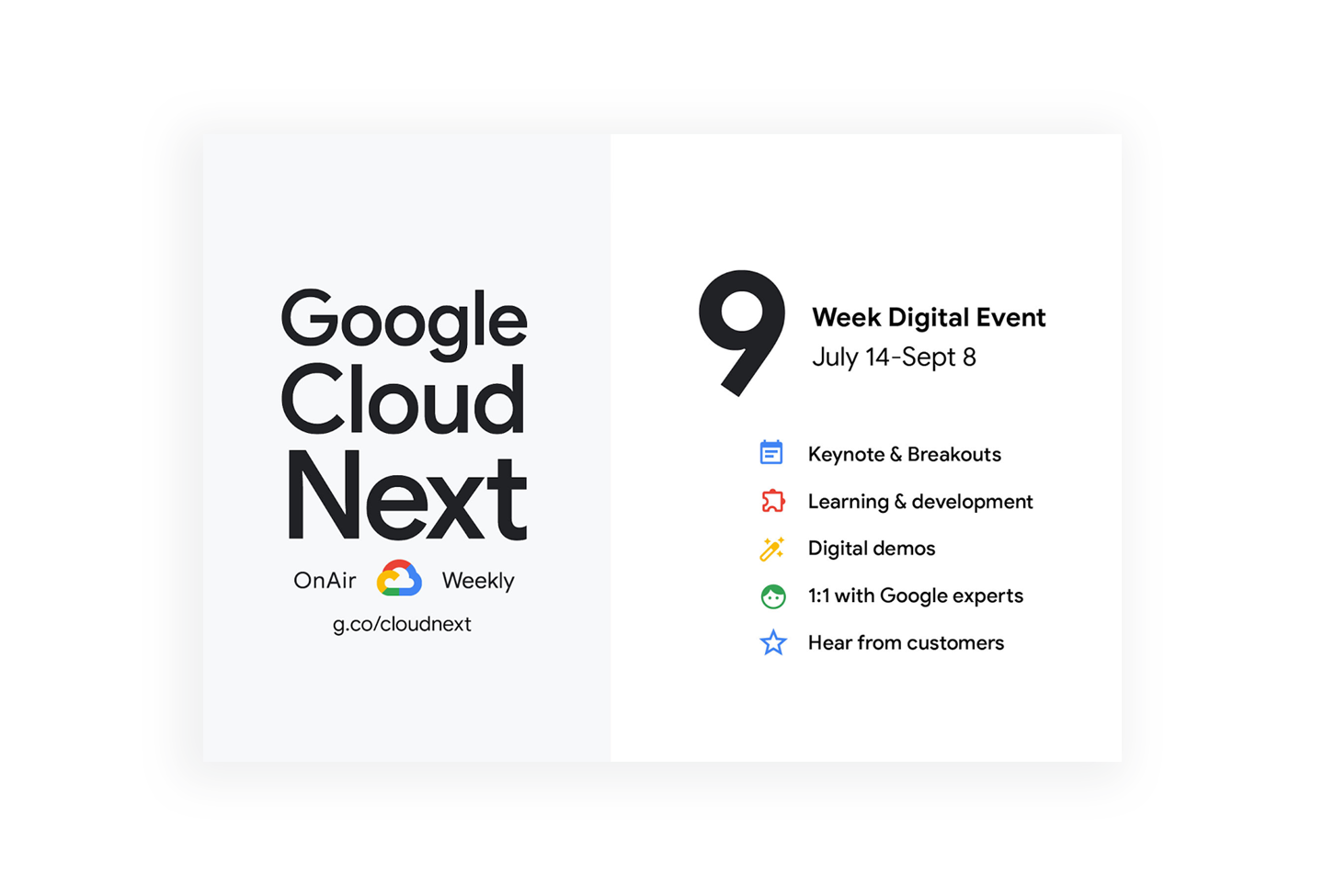 Google Next OnAir 2020: Productivity & Collaboration sessions