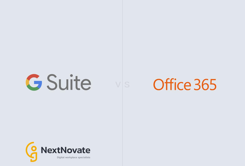 Google G Suite versus Microsoft Office 365